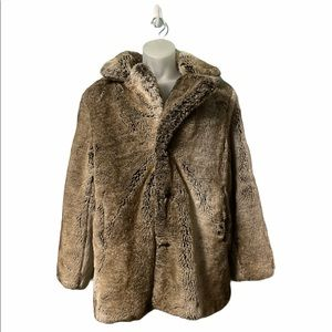Urban Outfitters Fur Collared WarmCozy Trench Coat